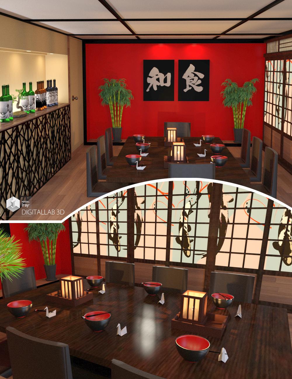 Japanese Restaurant by: Digitallab3D, 3D Models by Daz 3D