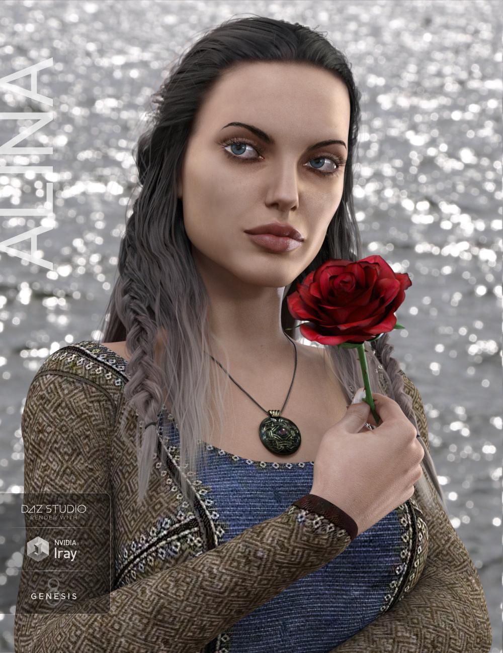 Alina for Genesis 8 Female by: Vyusur, 3D Models by Daz 3D