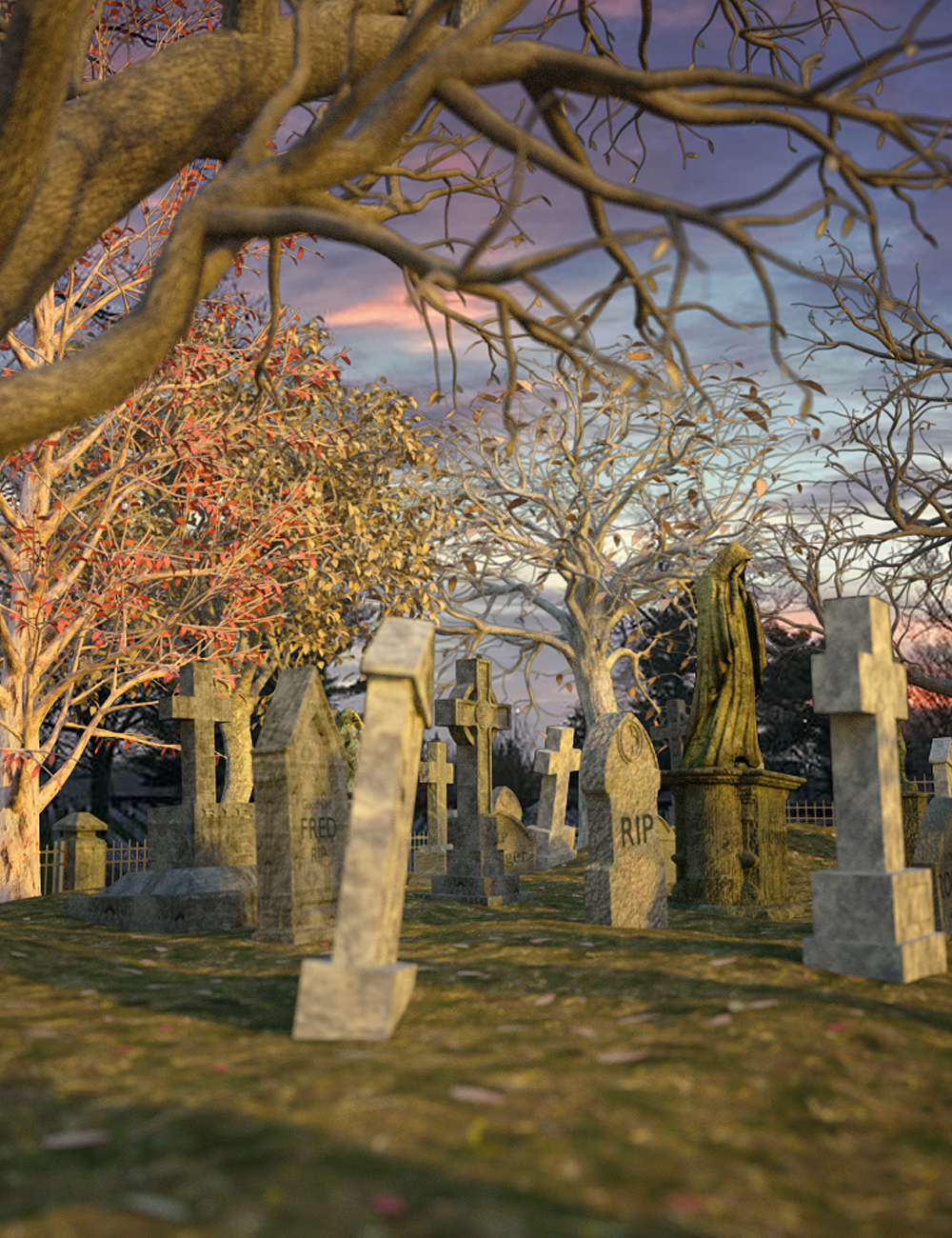 Lancaster Graveyard by: Digitallab3D, 3D Models by Daz 3D