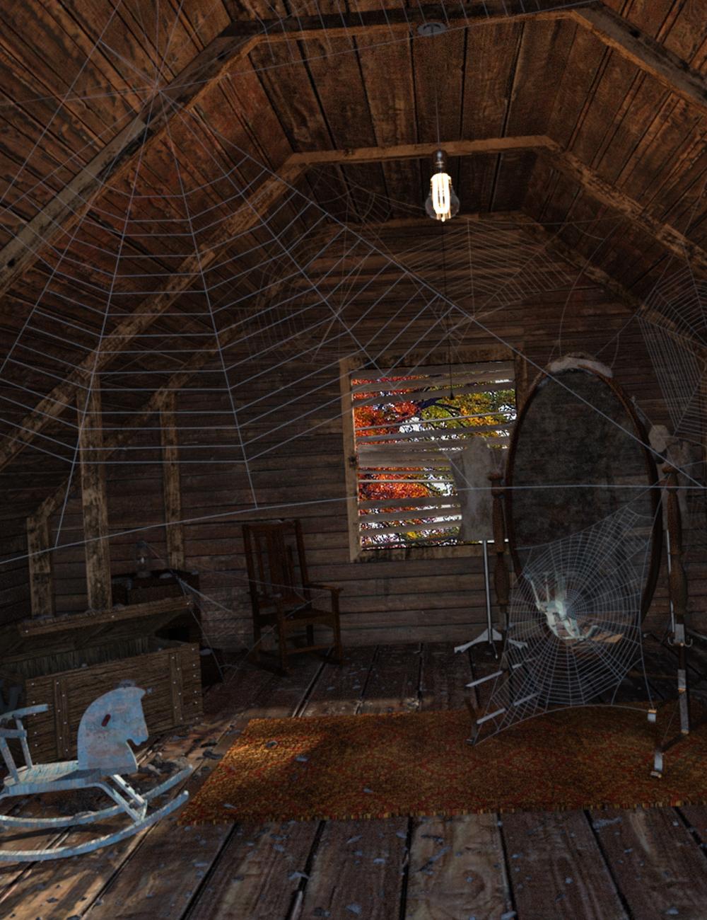 Creepy Attic by: Digitallab3D, 3D Models by Daz 3D