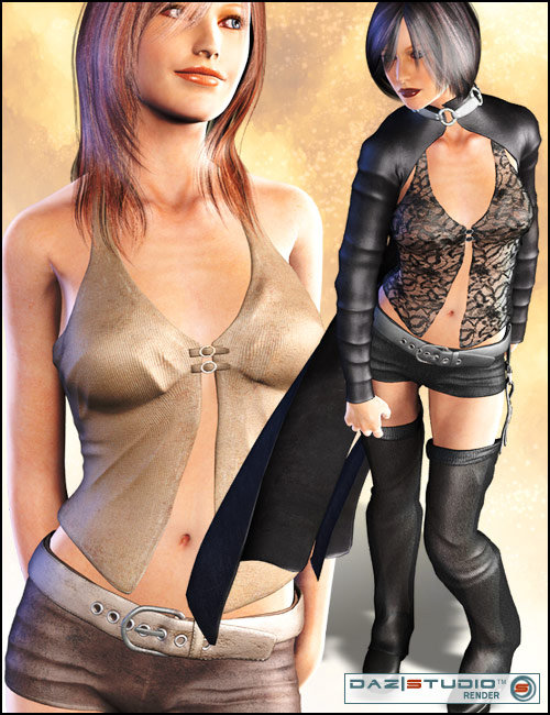 Domino for V4 by: Lourdes, 3D Models by Daz 3D