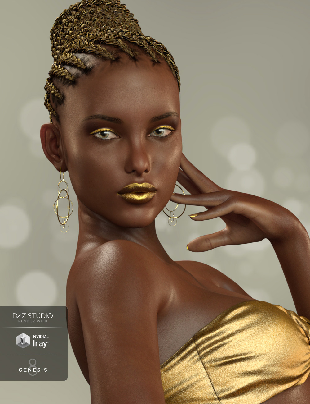 Adia for Monique 8 by: Cherubit, 3D Models by Daz 3D