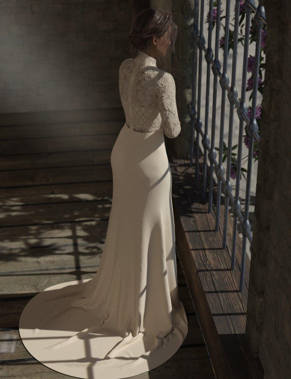 dForce Trumpet Dress for Genesis 3 and Genesis 8 Female(s) by: Aave NainenIDG DesignsDestinysGarden, 3D Models by Daz 3D