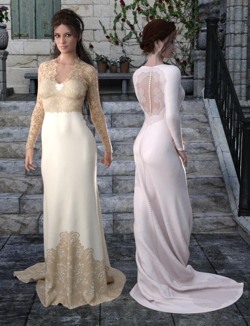 Bridal Styles for Trumpet Dress by: IDG DesignsDestinysGarden, 3D Models by Daz 3D