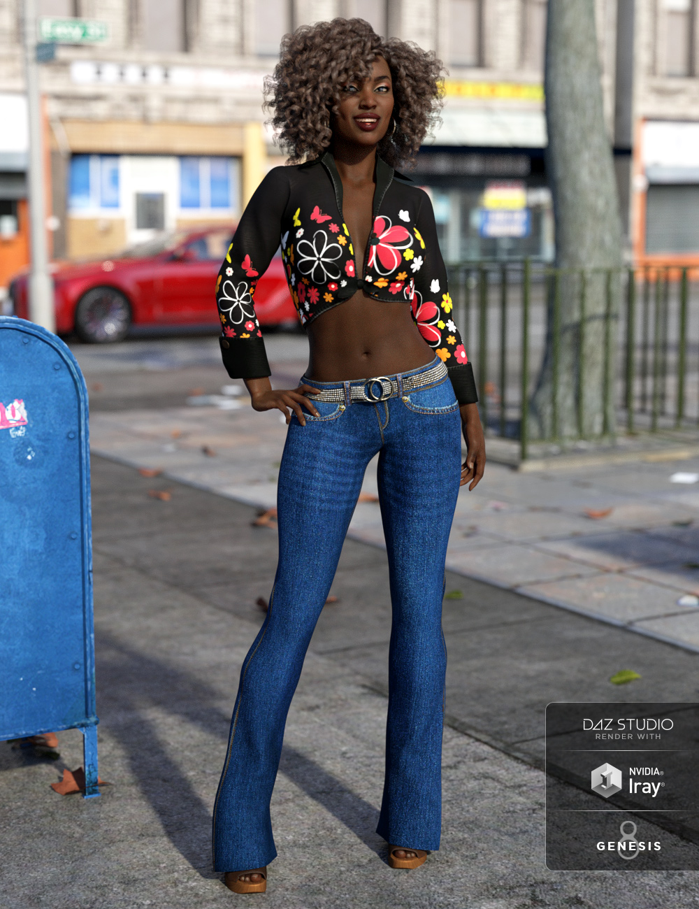 Looking Back Outfit for Genesis 8 Female(s) by: NikisatezShox-Design, 3D Models by Daz 3D