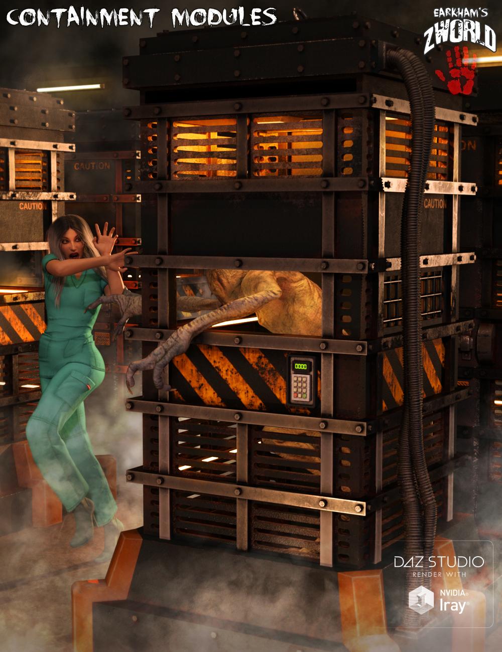 ZWorld Containment Modules by: E-Arkham, 3D Models by Daz 3D
