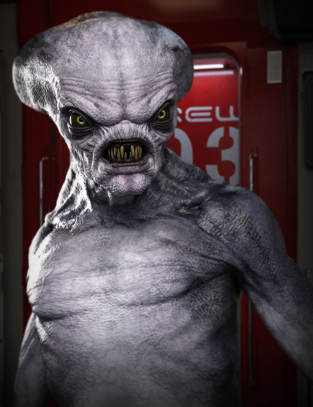 Crypto Alien HD for Genesis 8 Male by: , 3D Models by Daz 3D
