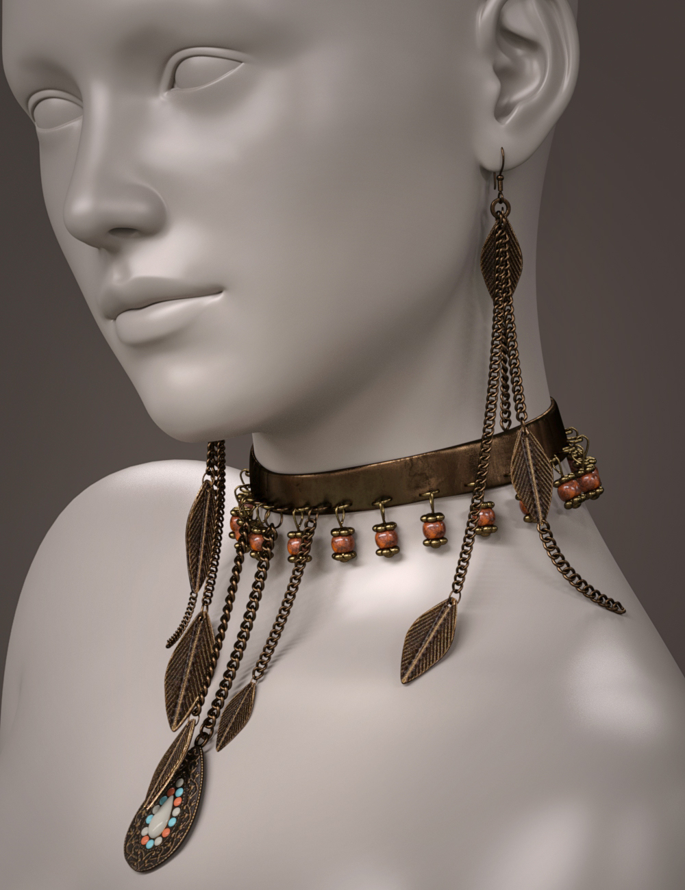 ES Pepper Jewelry for Genesis 3 and 8 Female(s) by: EyeStorm, 3D Models by Daz 3D