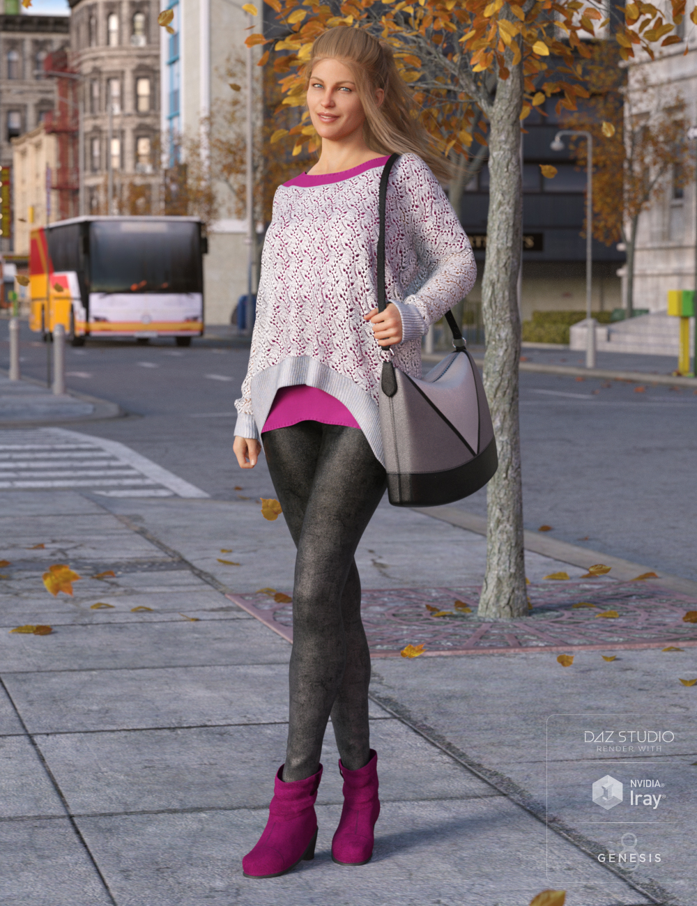 Autumnal Outfit for Genesis 8 Female(s) by: Lyrra MadrilShox-Design, 3D Models by Daz 3D