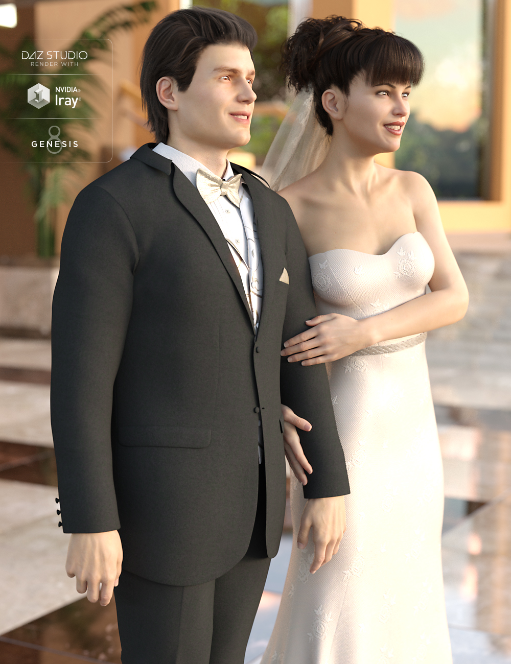 Wedding Photo Shoot Poses for Genesis 8 Male(s) and Female(s) by: Devon, 3D Models by Daz 3D