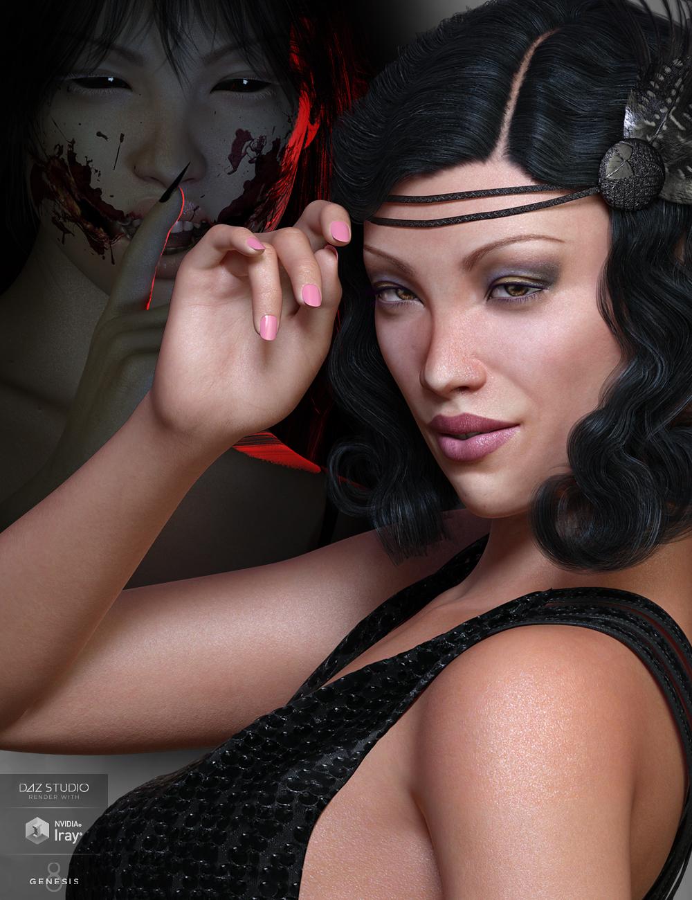 Mst KuchisakeOnna for Genesis 8 Female by: Mstene, 3D Models by Daz 3D