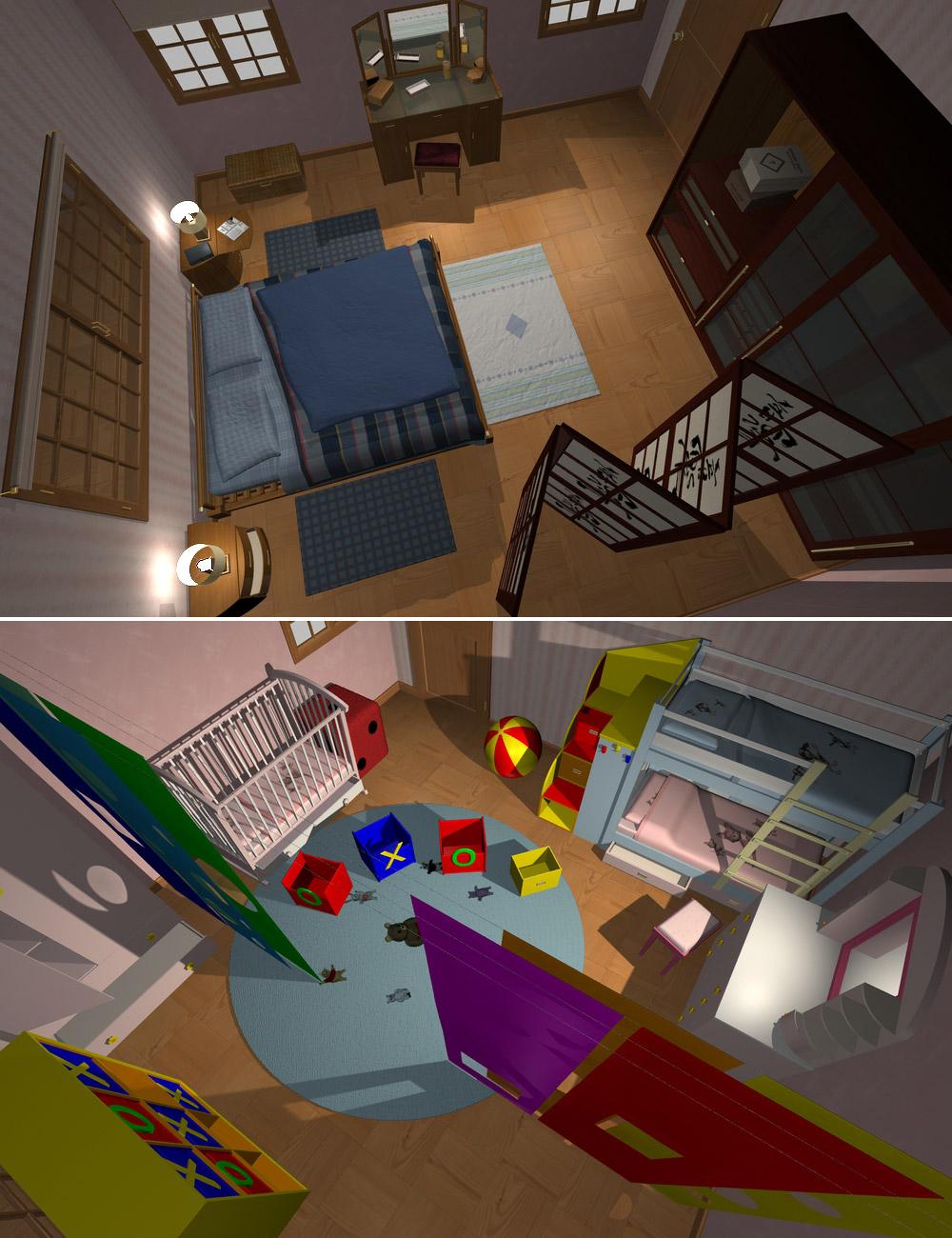 Home One Bedroom by: maclean, 3D Models by Daz 3D