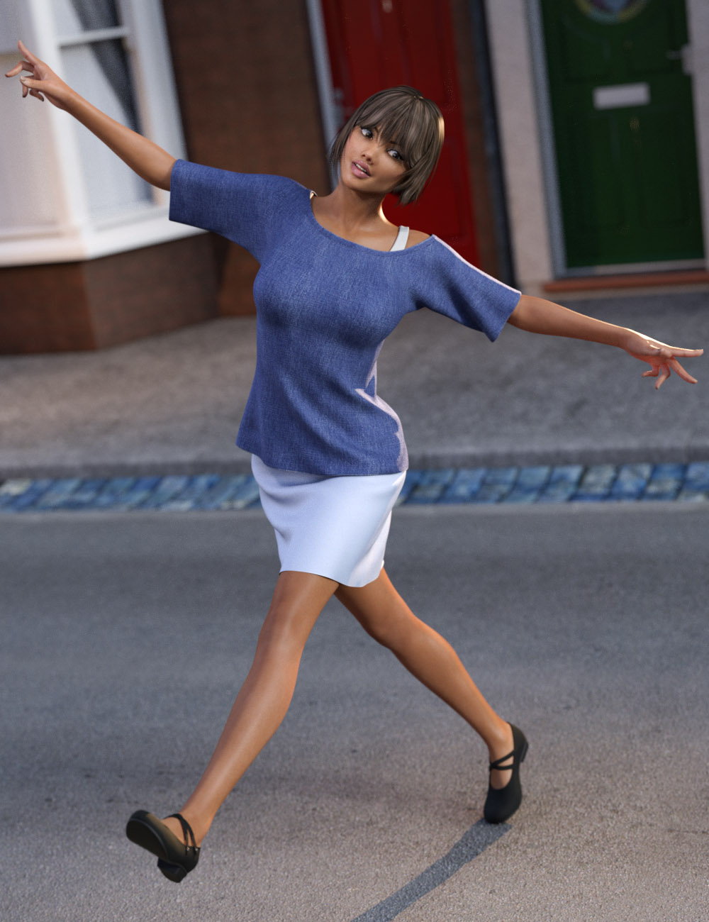 dForce Casual Style Outfit for Genesis 3 Female(s) by: tentman, 3D Models by Daz 3D