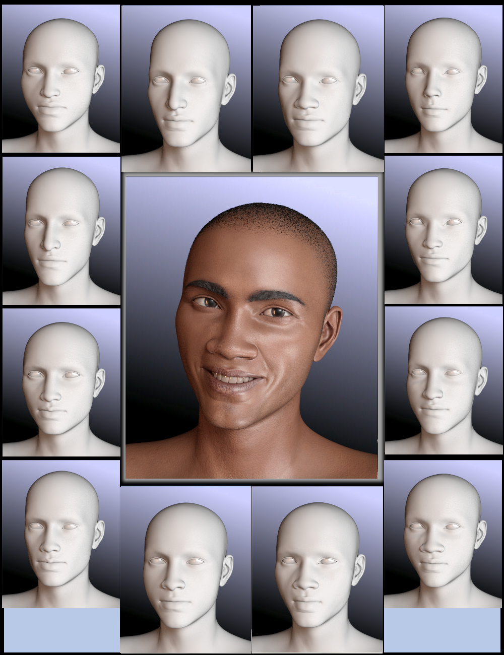People of Earth: Faces of Africa Genesis 8 Male by: Sickleyield, 3D Models by Daz 3D