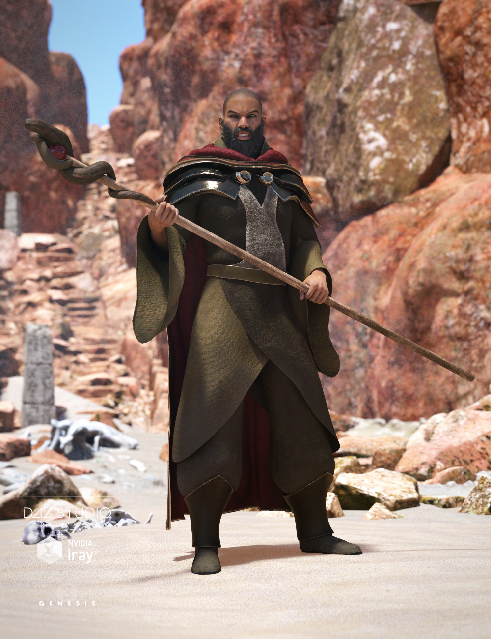Desert Mage for Genesis 3 Male(s) by: , 3D Models by Daz 3D
