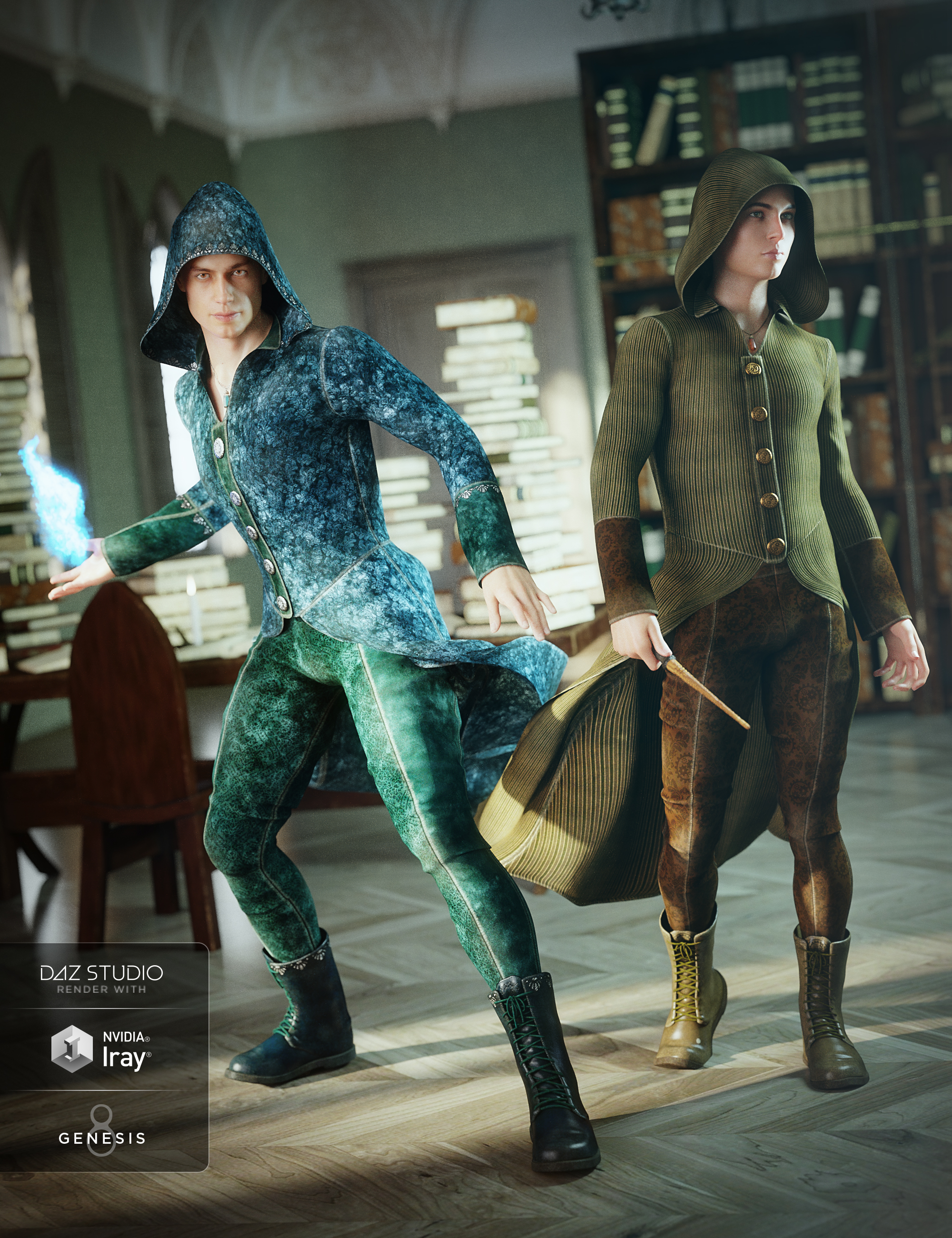 Wizard Apprentice Outfit Textures by: Arien, 3D Models by Daz 3D