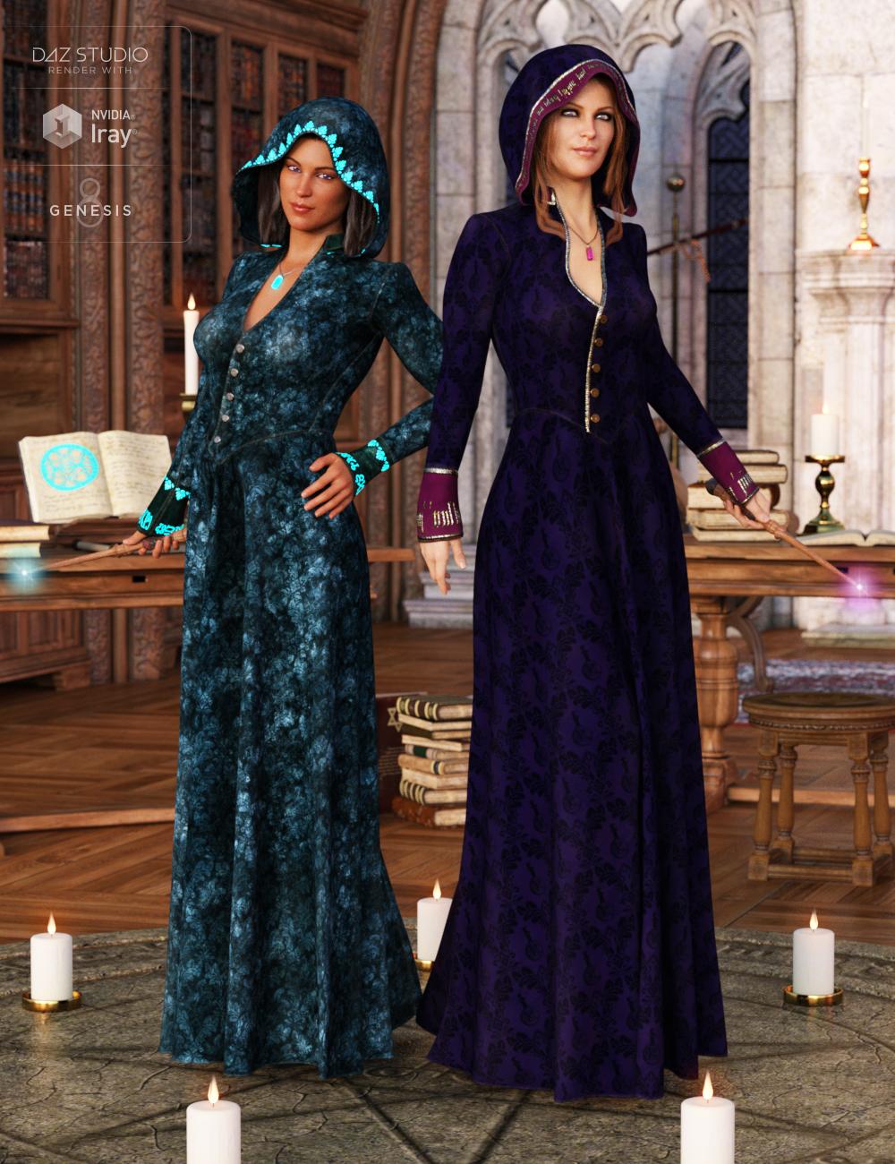 Sorceress Apprentice Outfit Textures by: Arien, 3D Models by Daz 3D