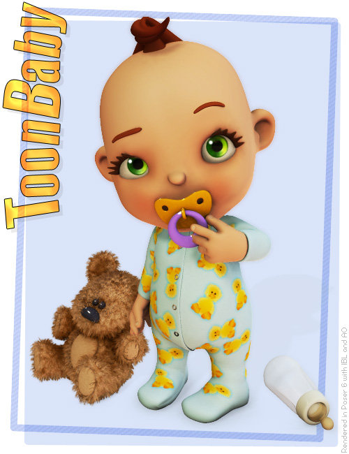 3D Universe's Toon Baby by: 3D Universe, 3D Models by Daz 3D
