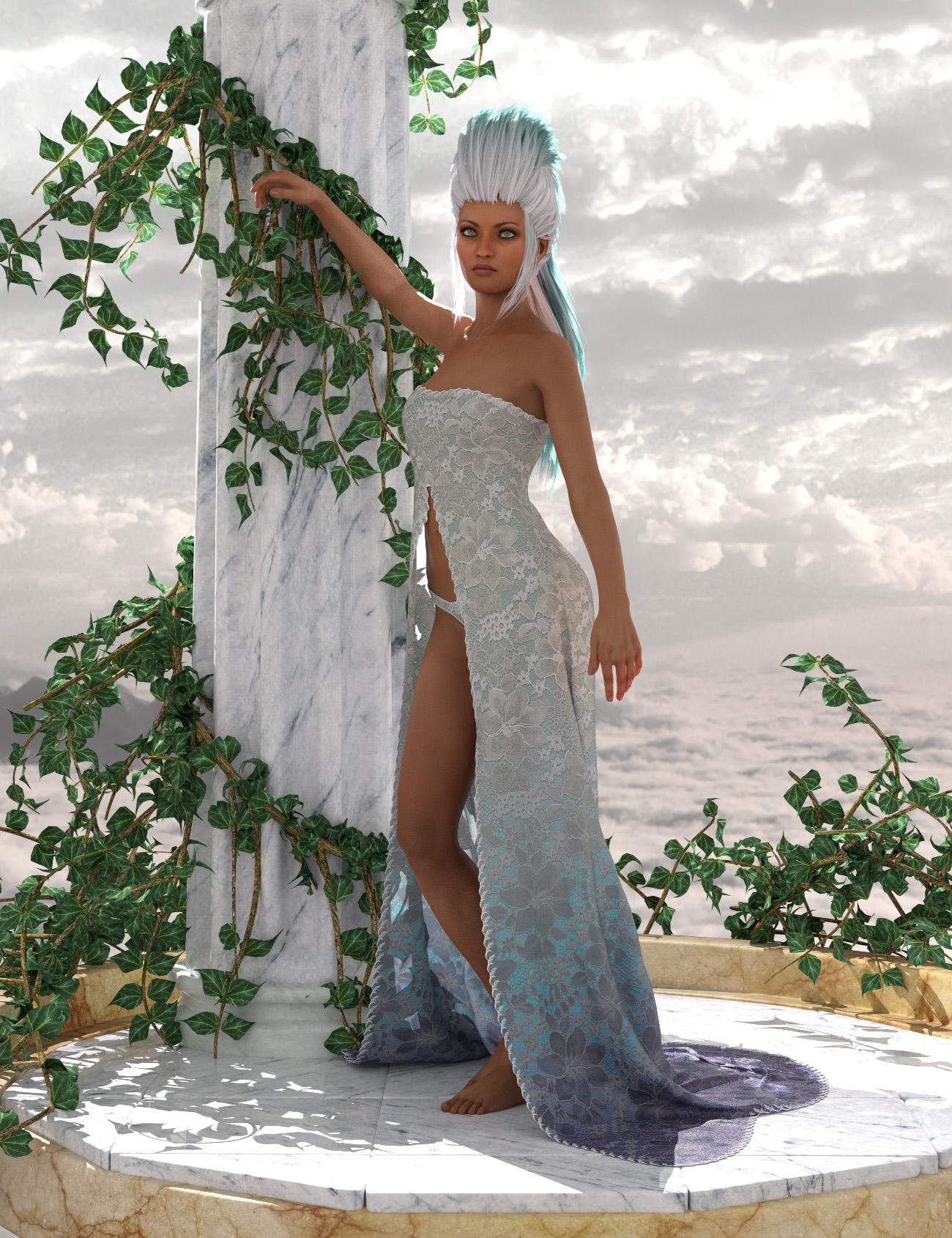 dForce Romantic Dress Outfit for Genesis 8 Female by: AmaranthPixelTizzyFit, 3D Models by Daz 3D