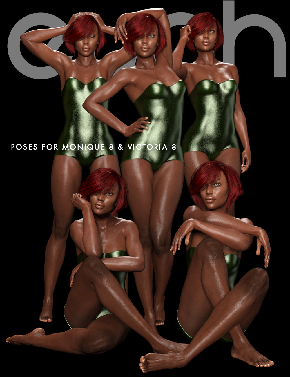 Shimuzu's Evah Poses for Monique 8 and Victoria 8 by: Shimuzu, 3D Models by Daz 3D