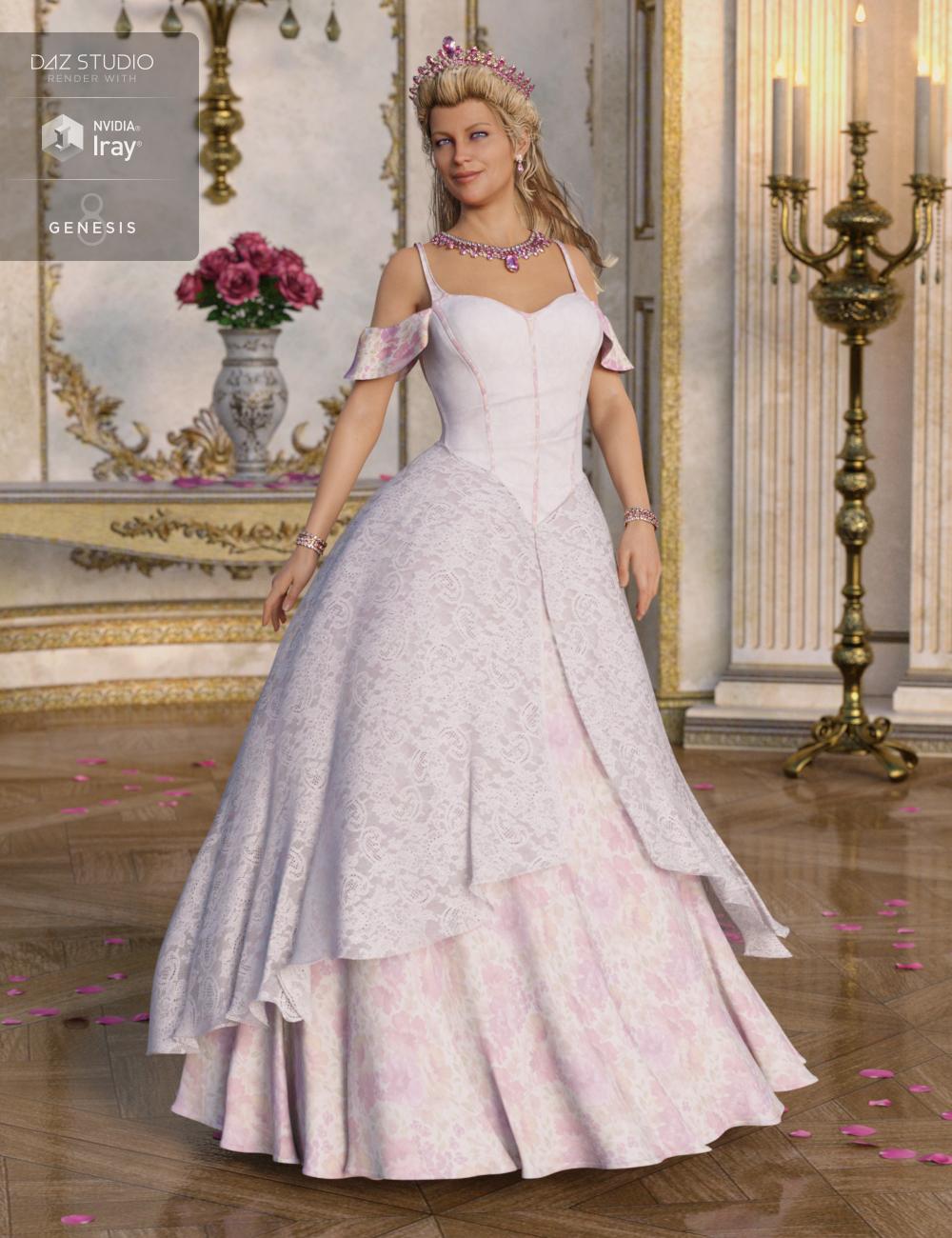Princess Ensemble for Genesis 8 Female(s) by: Anna BenjaminBarbara BrundonUmblefugly, 3D Models by Daz 3D