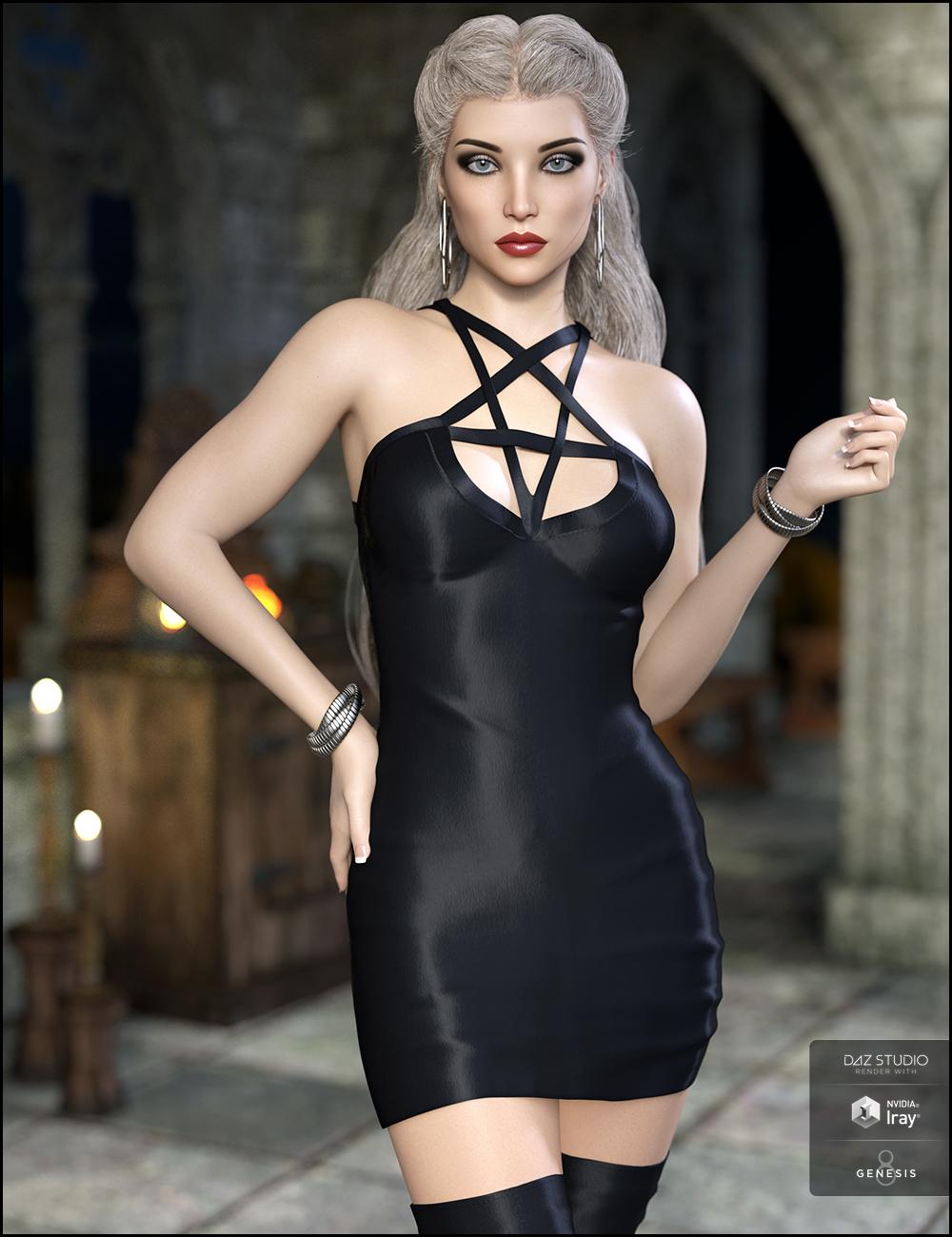 Lustrum Dress Outfit for Genesis 8 Female(s) by: JessaiiDemonicaEvilius, 3D Models by Daz 3D