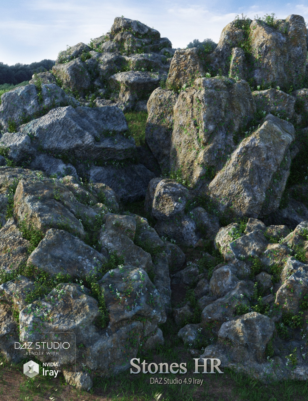 Stones HR by: Andrey Pestryakov, 3D Models by Daz 3D