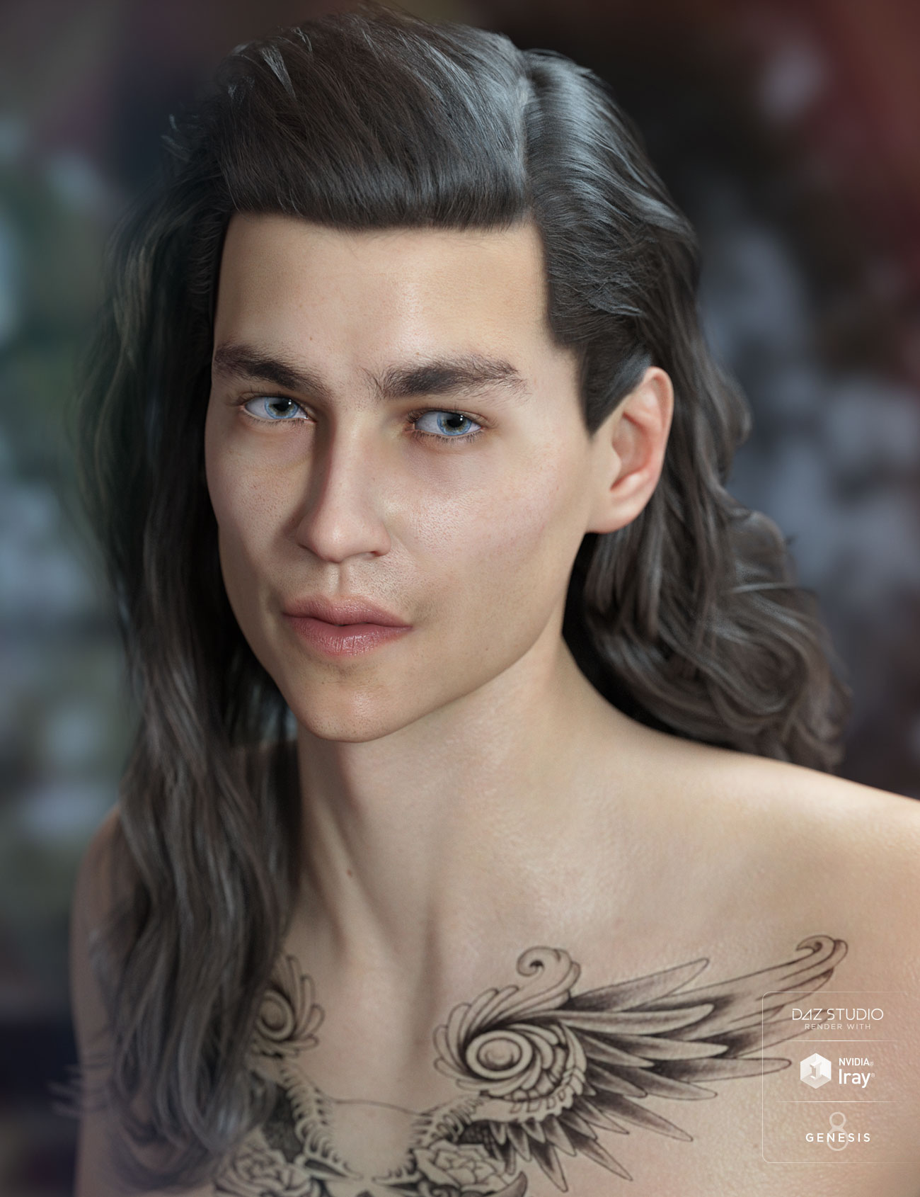 Elan Hair for Genesis 8 Male(s) and Female(s) by: AprilYSH, 3D Models by Daz 3D