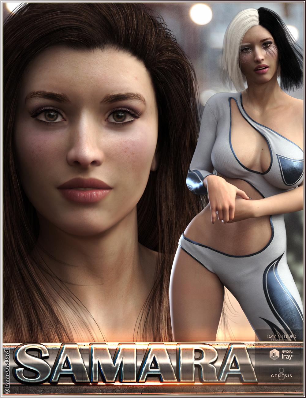 EJ Samara For Genesis 8 Female by: EmmaAndJordi, 3D Models by Daz 3D