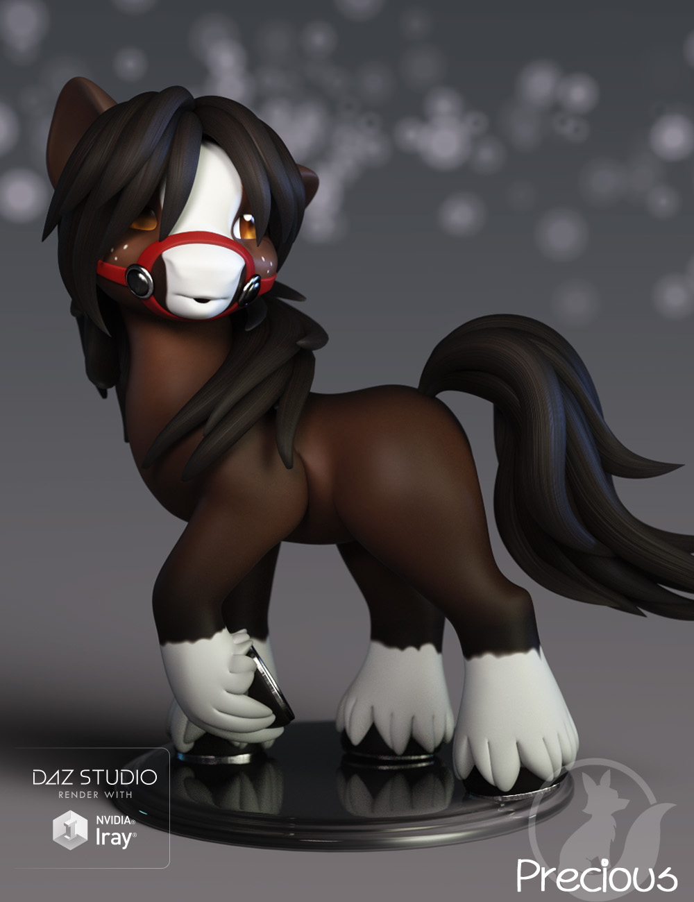 Precious Clydesdale by: Lady Littlefox, 3D Models by Daz 3D