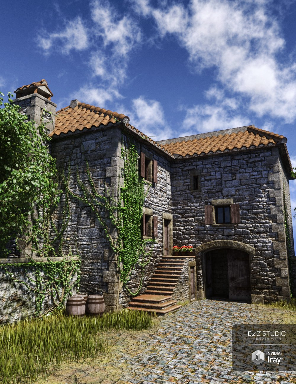 Old Country Farmhouse by: Predatron, 3D Models by Daz 3D