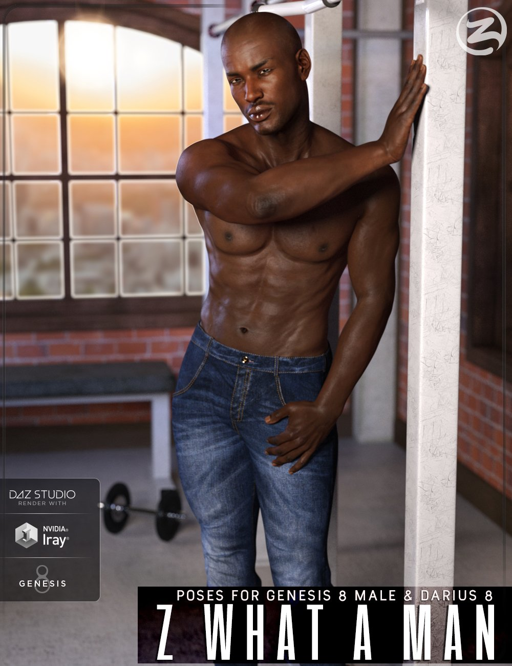 Z What A Man - Poses & Expressions for Genesis 8 Male & Darius 8 by: Zeddicuss, 3D Models by Daz 3D