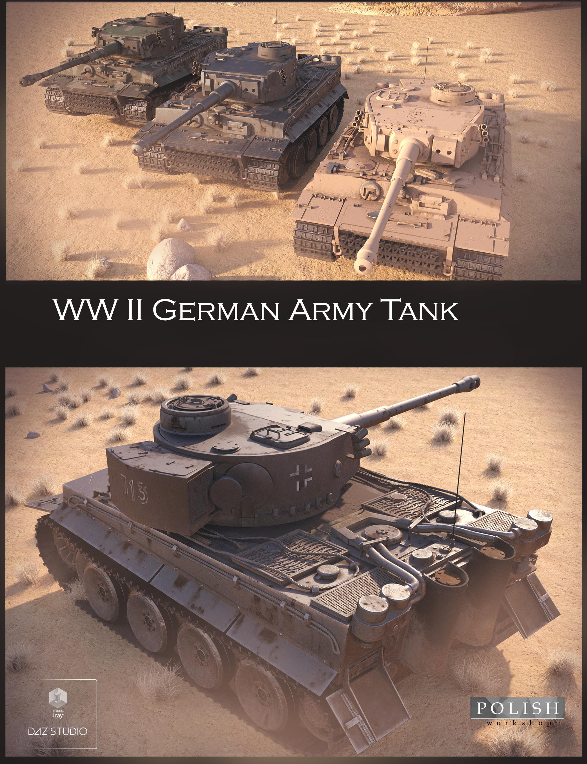WW II German Tank by: Polish, 3D Models by Daz 3D