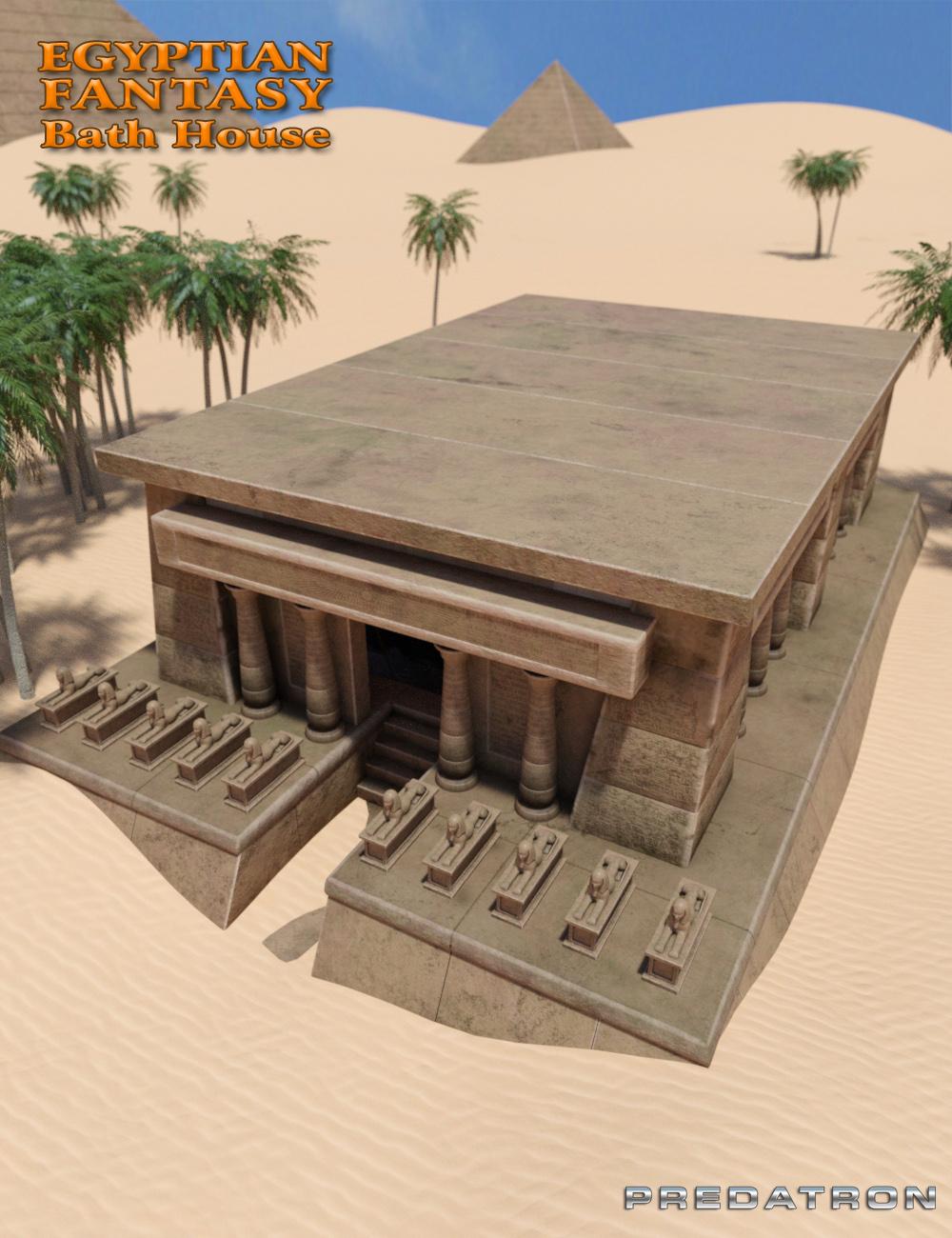 Egyptian Fantasy Bath House by: Predatron, 3D Models by Daz 3D