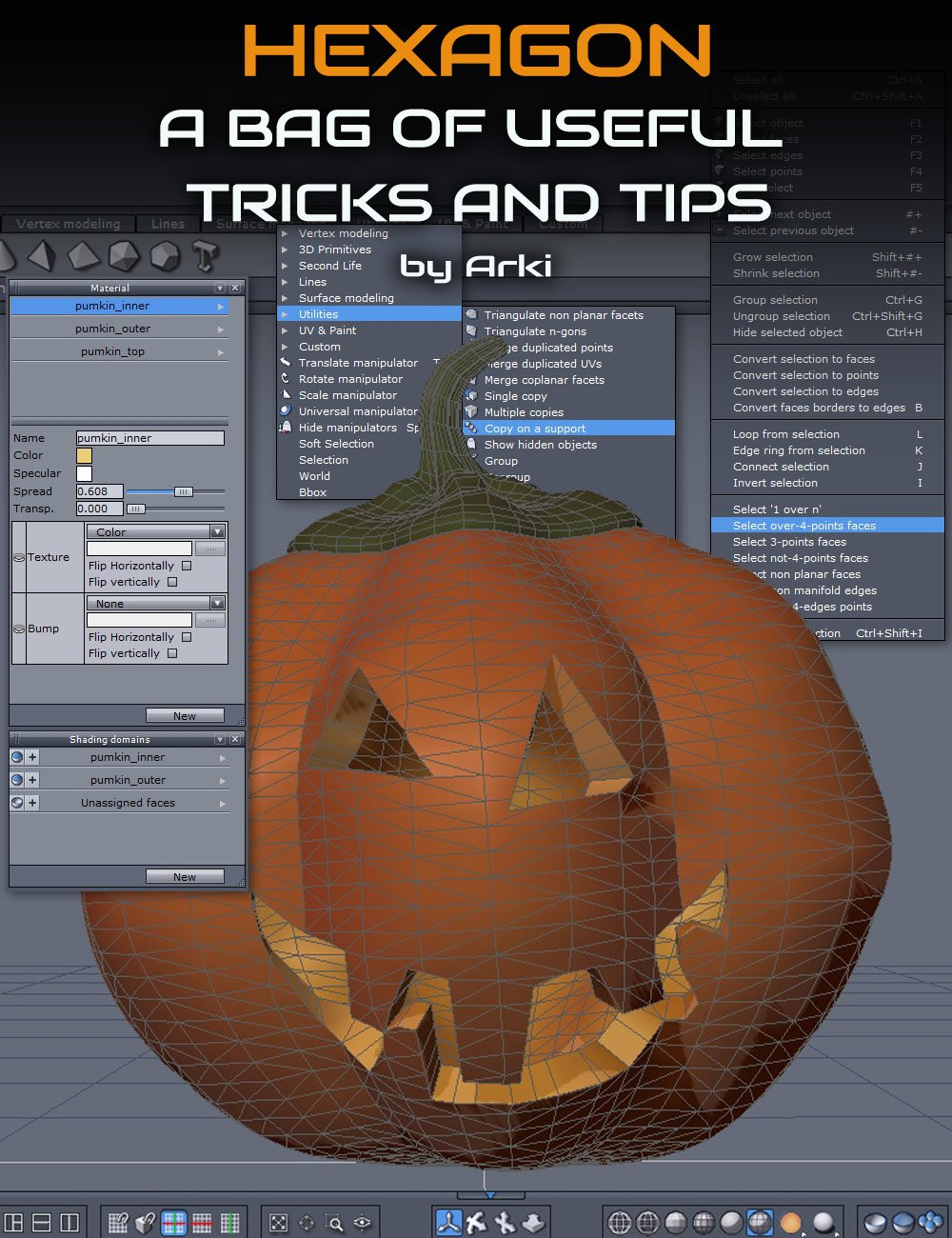 Hexagon Treats: 12 High Value Modeling Tips and Tricks by: ArkiCganDigital Art Live, 3D Models by Daz 3D