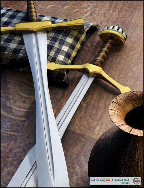 Build Your Own Sword Kit by: Valandar, 3D Models by Daz 3D