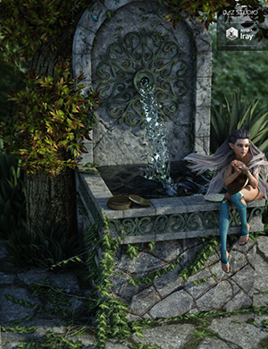 Fairy Wishing Well by: Lilflame, 3D Models by Daz 3D