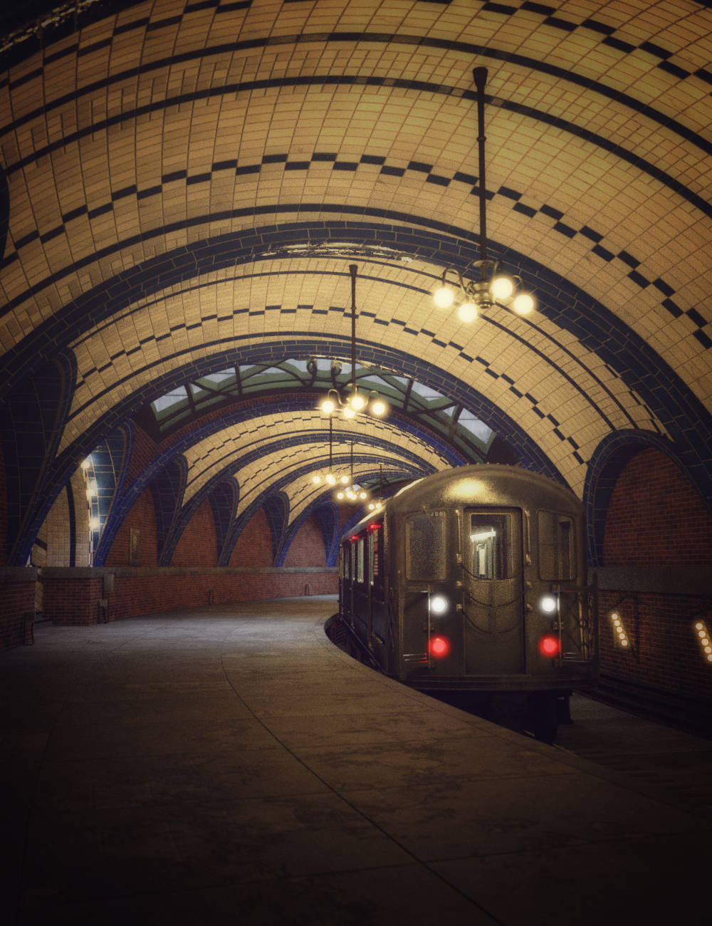 Historic Subway Station by: Mely3D, 3D Models by Daz 3D