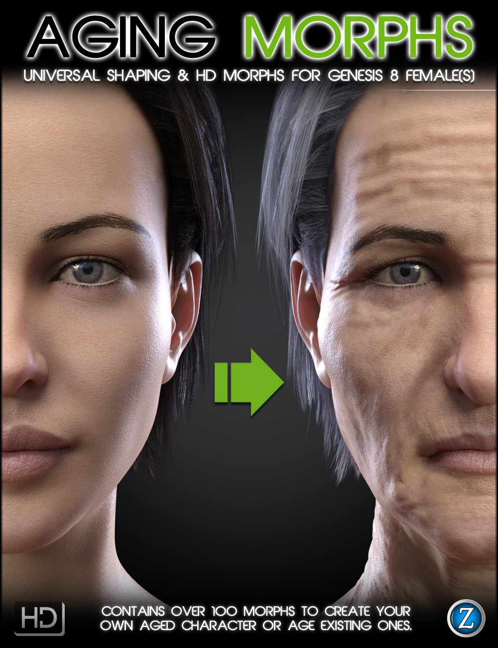 Aging Morphs for Genesis 8 Female(s) by: Zev0, 3D Models by Daz 3D
