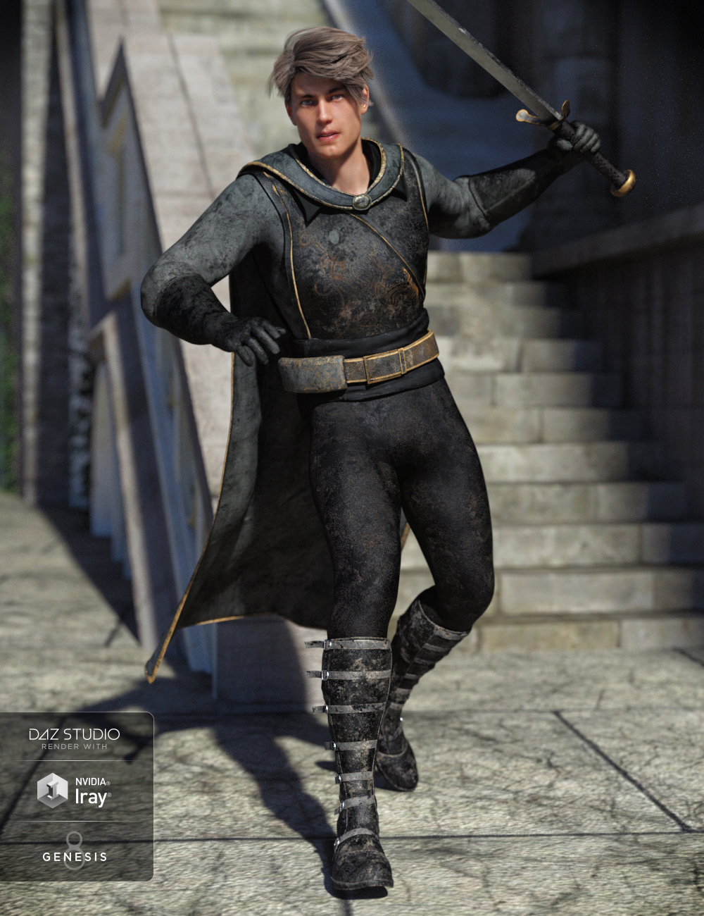 Rogue Hunter Outfit for Genesis 8 Male(s) by: Moonscape GraphicsSade, 3D Models by Daz 3D
