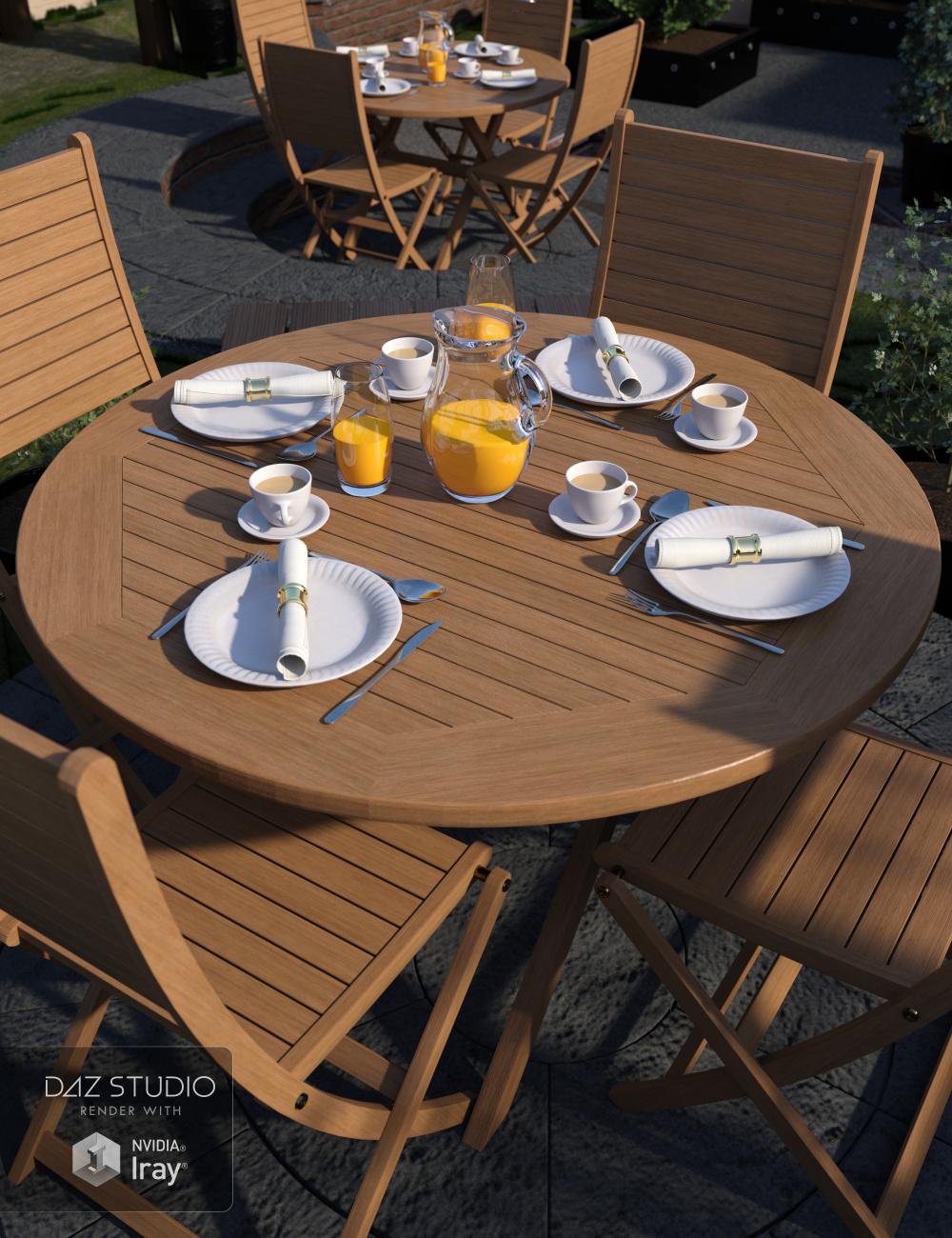 Patio Dining by: Merlin Studios, 3D Models by Daz 3D