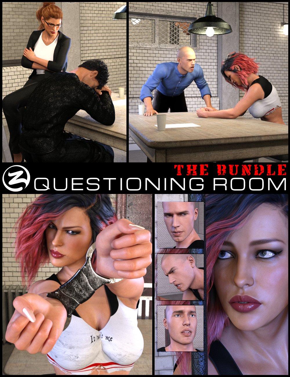 Z Questioning Room Bundle by: Zeddicuss, 3D Models by Daz 3D