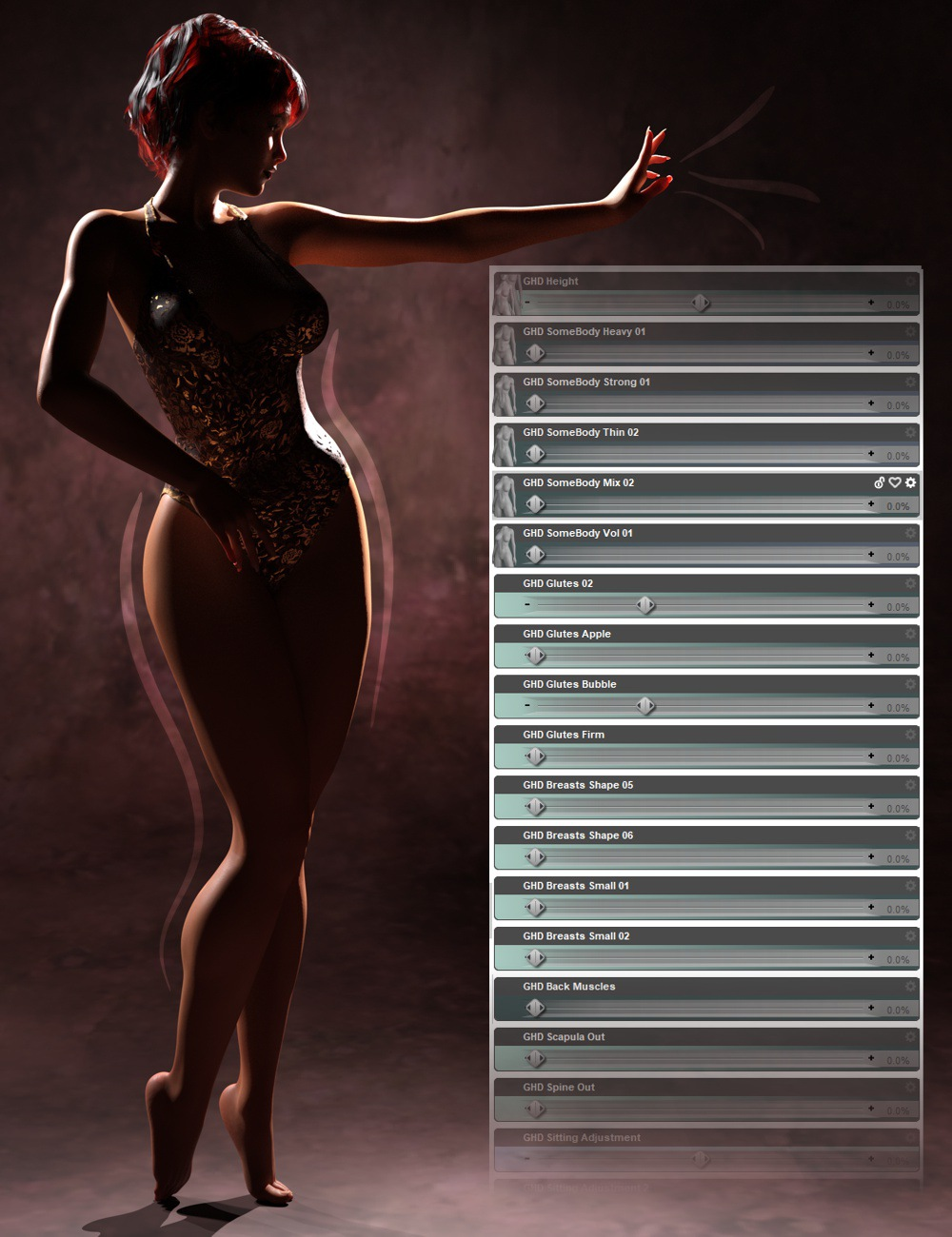 GHD SomeBody - Morphs for Genesis 8 Female(s) by: 3D-GHDesign, 3D Models by Daz 3D