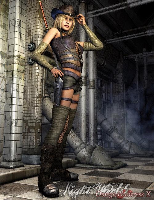 Omega Huntress X by: Luthbel, 3D Models by Daz 3D