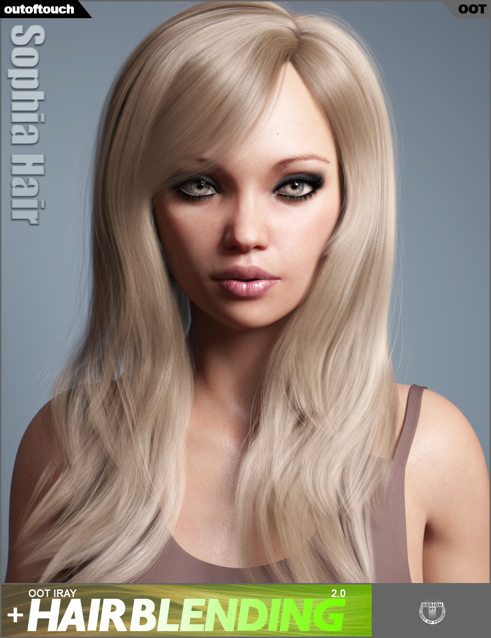 Sophia Hair for Genesis 3 and 8 Female(s) by: outoftouch, 3D Models by Daz 3D