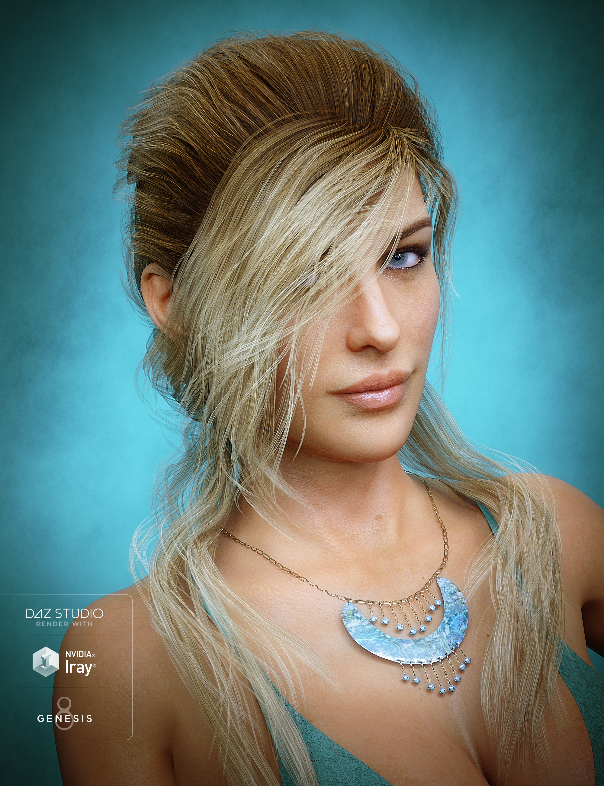 Young Grace Hair for Genesis 8 Female(s) by: goldtassel, 3D Models by Daz 3D