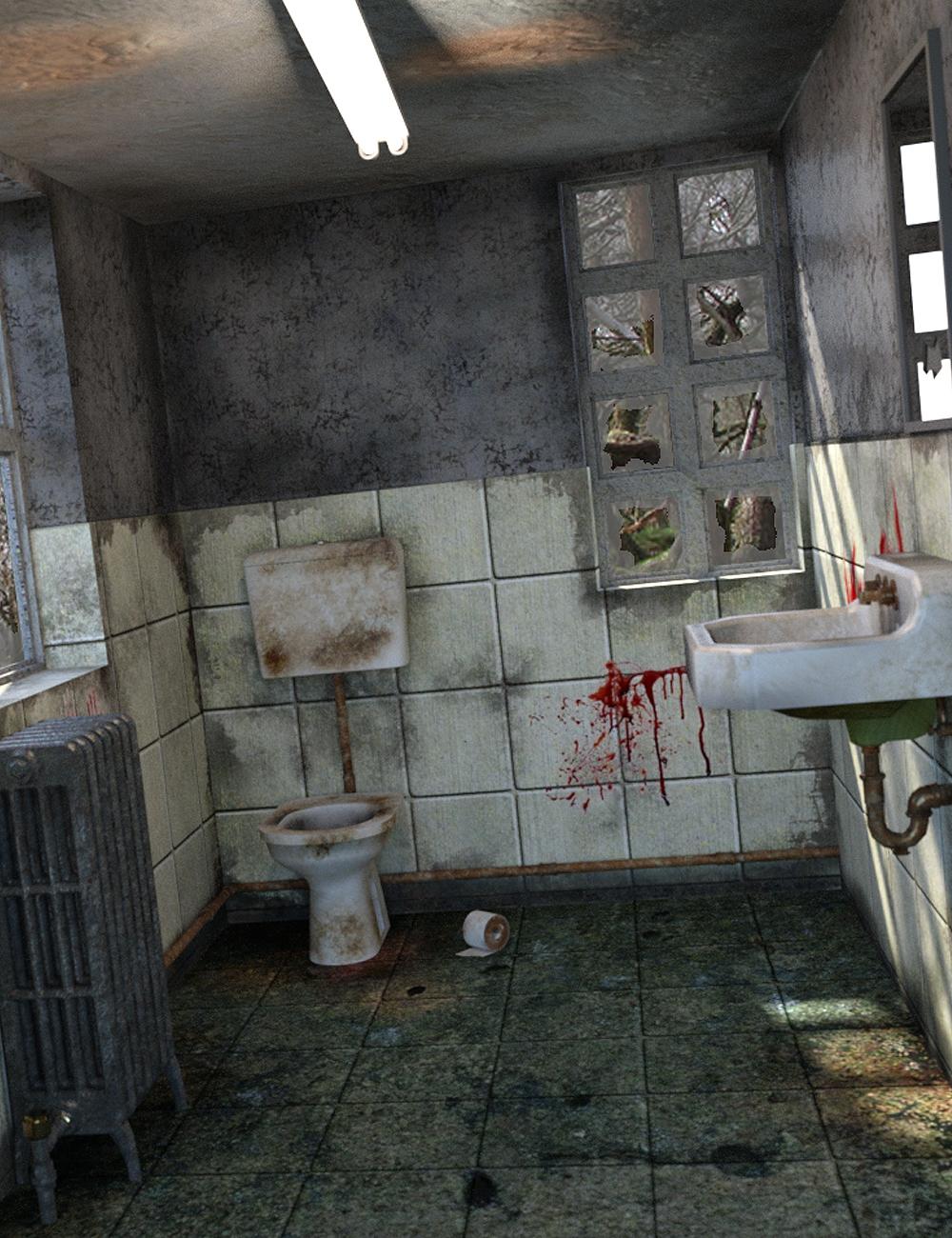 Abandoned Toilet by: Digitallab3D, 3D Models by Daz 3D