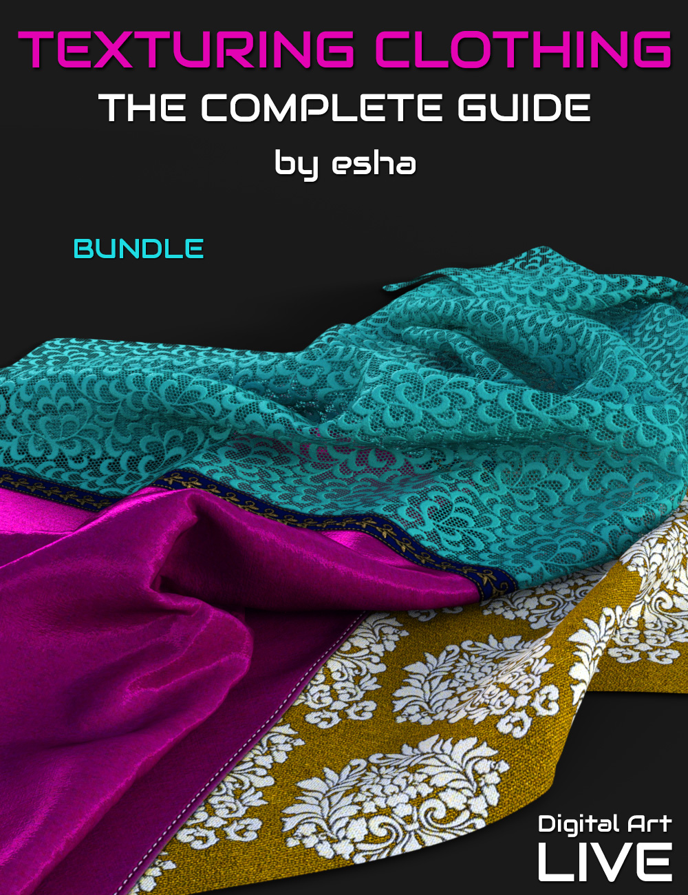 The Complete Guide to Texturing Clothing - Bundle by: eshaCganDigital Art Live, 3D Models by Daz 3D