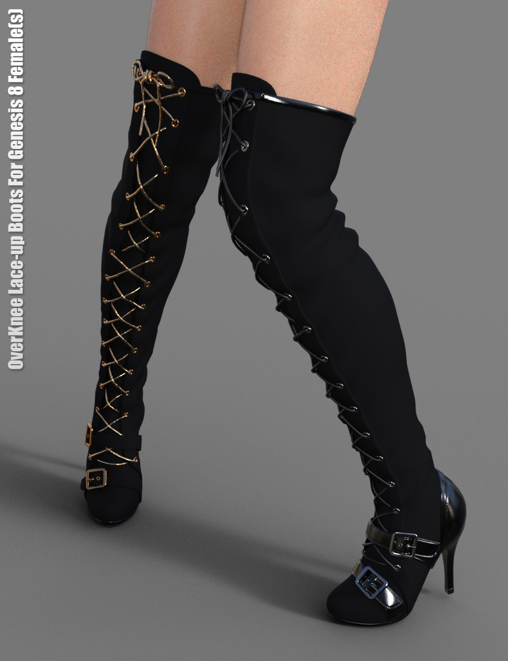 OverKnee Lace-Up Boots for Genesis 8 Female(s) by: dx30, 3D Models by Daz 3D