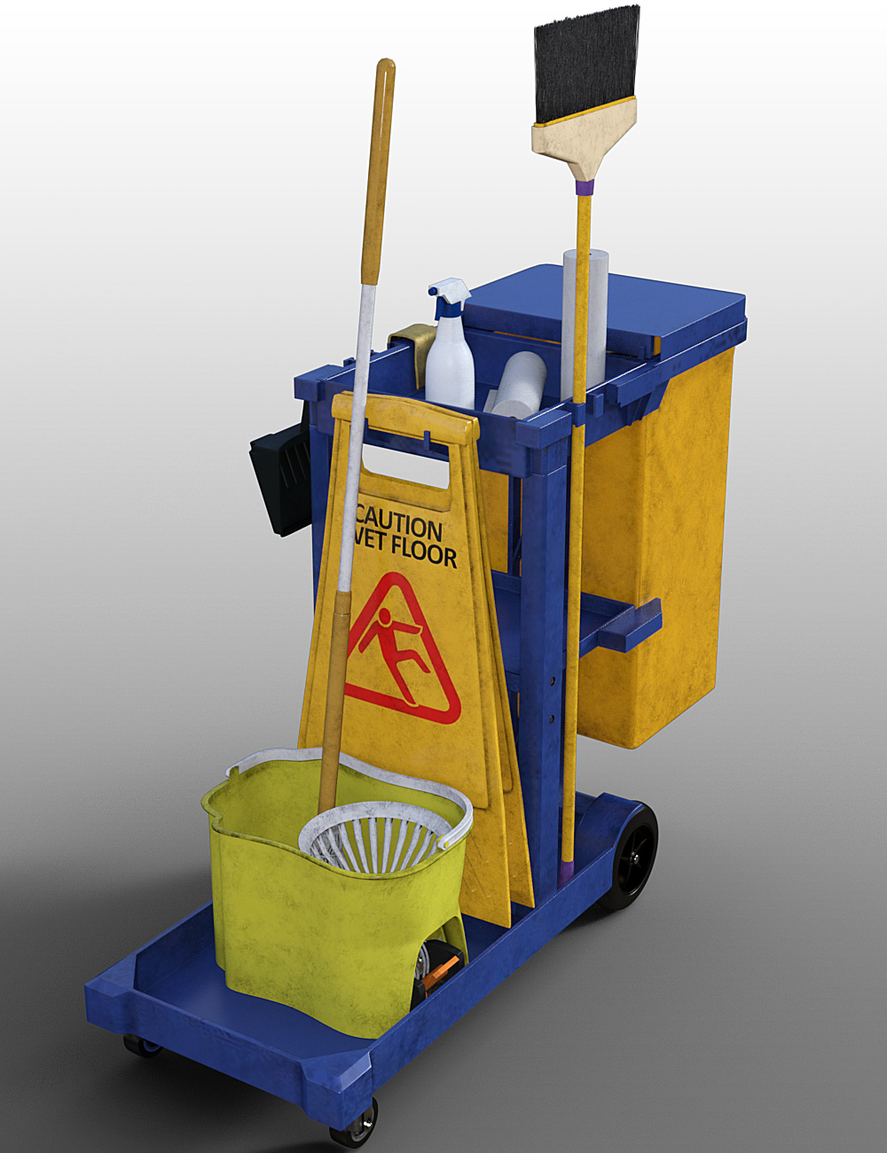 Commercial Cleaning Supplies by: , 3D Models by Daz 3D